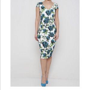 Dresses & Skirts - Easter Spring white floral sheath dress